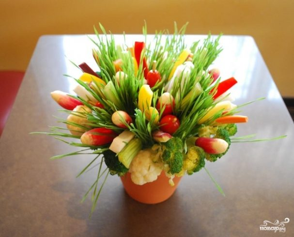 """Салат """"Корзинка с цветами"""""""