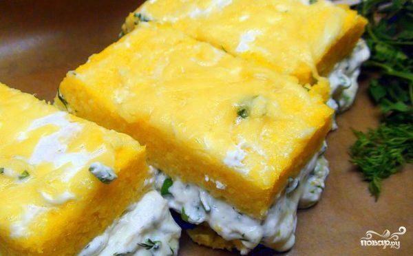 Полента с сыром