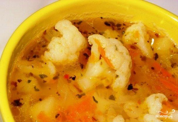 Гороховый суп с капустой