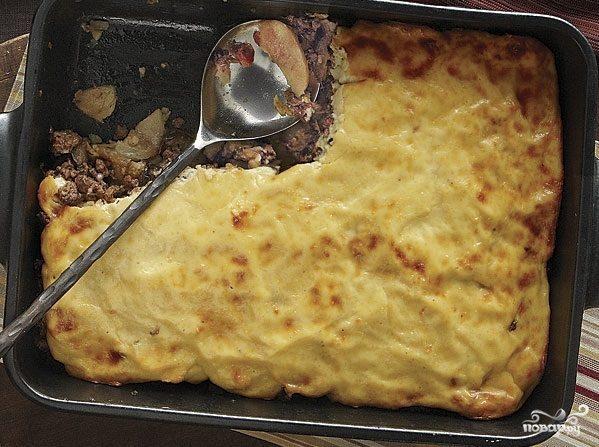 Мусака с баклажанами и картофелем