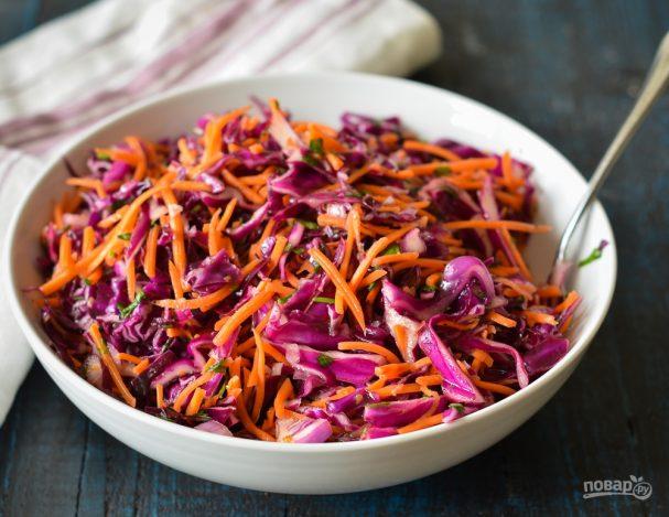Капустный салат с цитрусовой заправкой