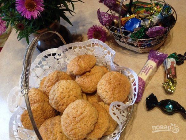 Домашнее овсяное печенье простое