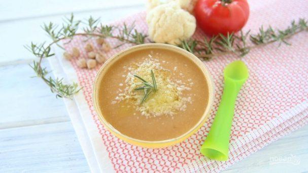 Суп-пюре из нута и цветной капусты