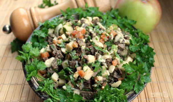 Салат из печени говядины