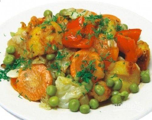 Тушеные замороженные овощи