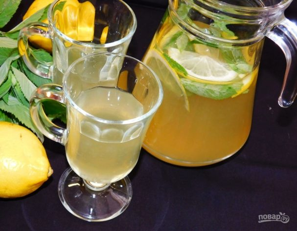 Мятно-лимонный лимонад