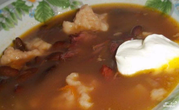 Суп фасолевый с клецками