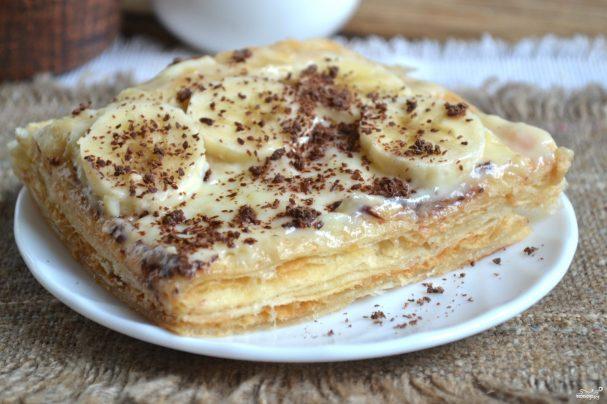 торт наполеон из готового пошаговый рецепт с фото