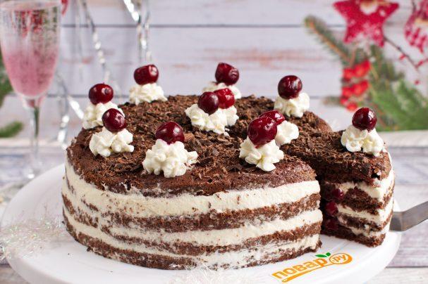 """Простой торт """"Черный лес"""""""