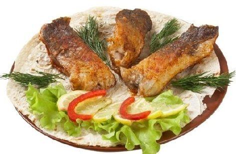 Шашлык из рыбы сазан