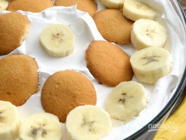 Ванильный пудинг с бананом