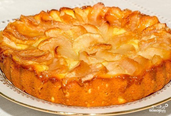 Пирог из творожного теста
