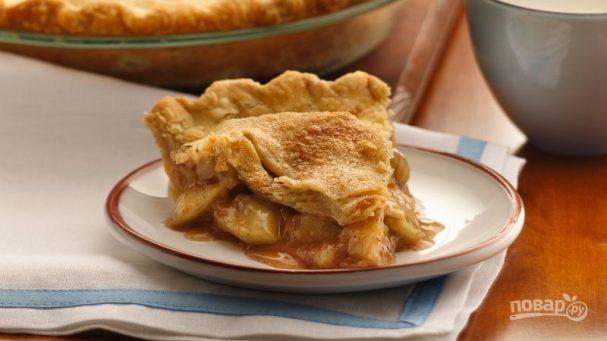 Пирог с лимоном и яблоками
