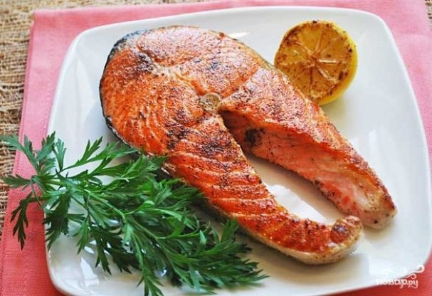 рецепт рыбы кижуч в духовке стейки