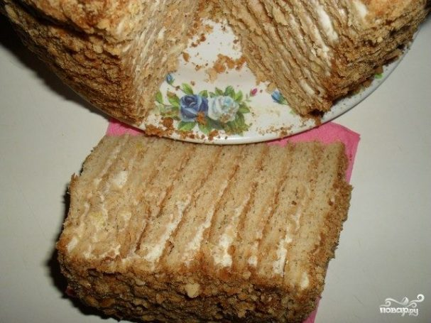 """Торт """"Наполеон"""" медовый"""