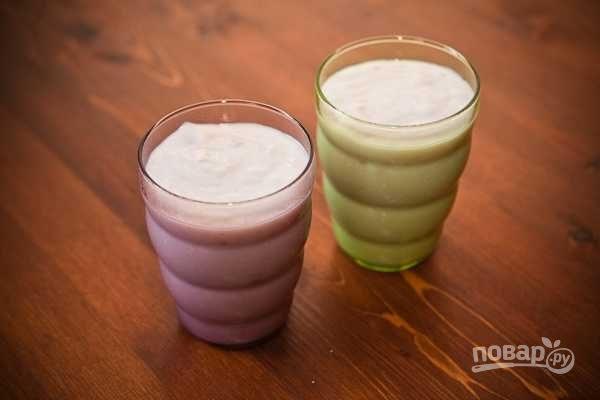 Молочный кисель с малиной