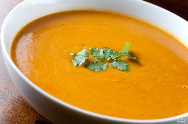Тыквенный суп с чесноком