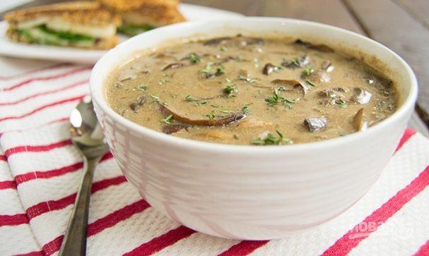 Суп с замороженными белыми грибами