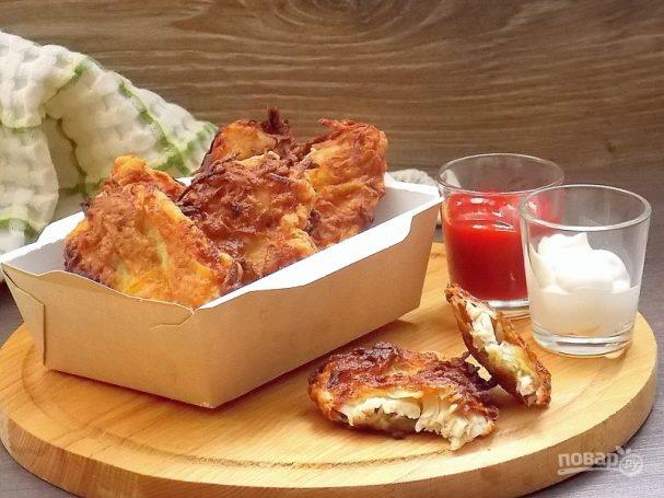 Куриное филе в картофельной шубке