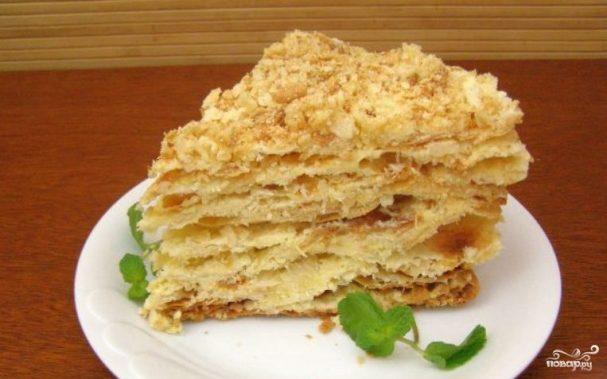 слоеный торт рецепт пошаговый