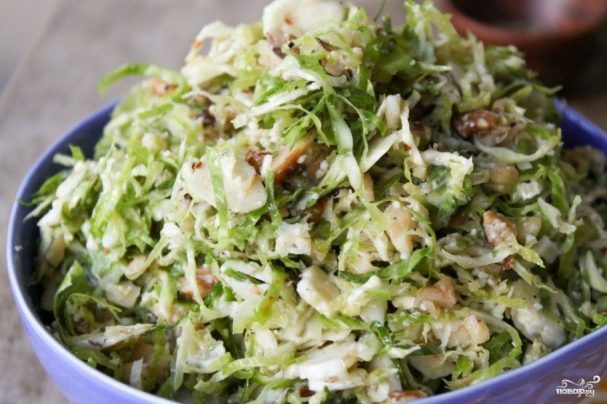 Брюссельская капуста рецепт салата