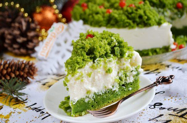 """Новогодний торт """"Лесной мох"""""""