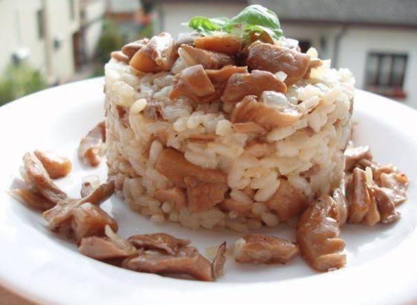 Вешенки с рисом