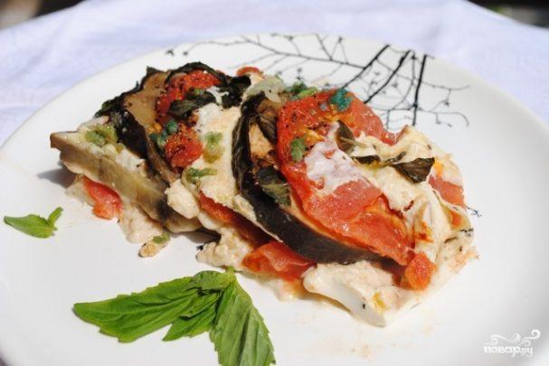 рецепт бакладанов с моцареллой и помидорами в духовке