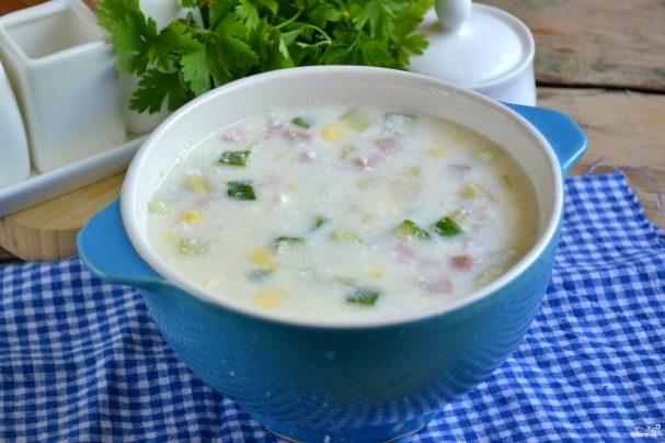 Холодный суп на кефире