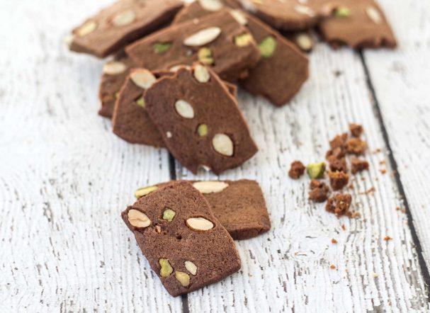 Датское коричневое печенье