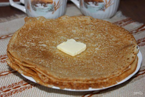 Рецепт блинов на кефире без яиц