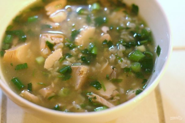 Суп из семги с рисом