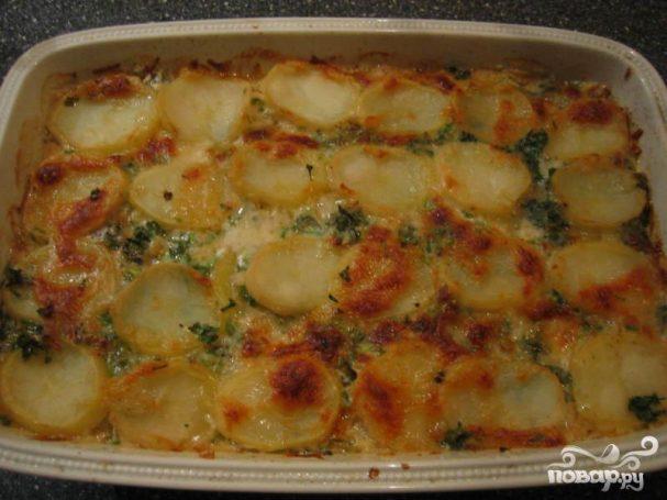 Картофель с плавленым сыром