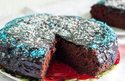 Постный пирог с какао