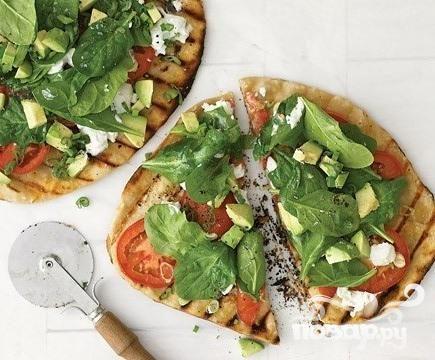 Овощная пицца на гриле