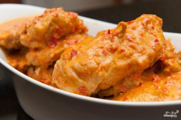 Куриное филе в чесночном соусе