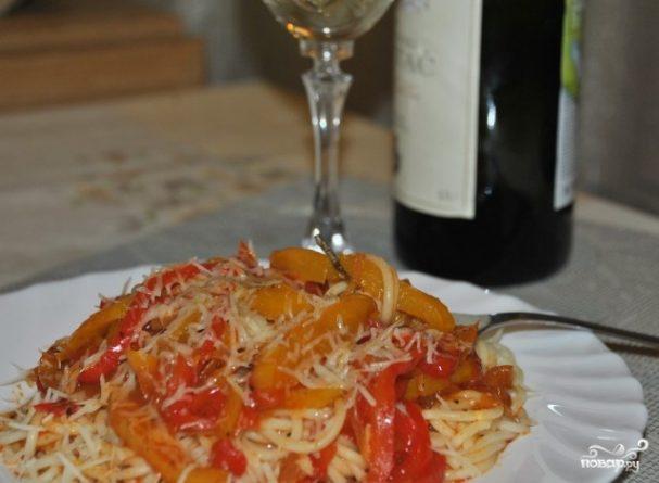 Спагетти с болгарским перцем