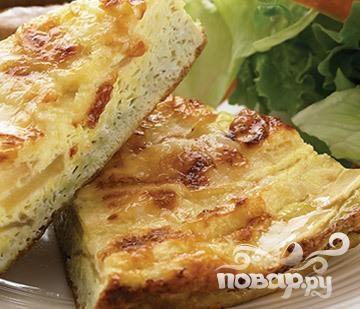 Фритата с яблоком и сыром