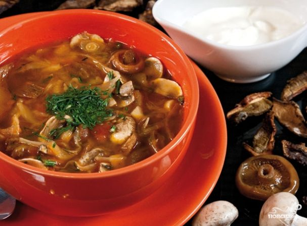 простые рецепты грибной солянки