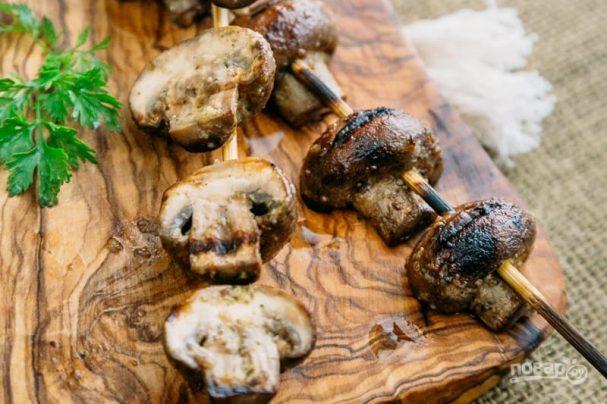 Шашлык из грибов (оригинальный рецепт)