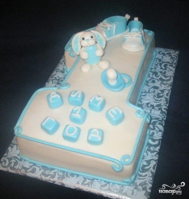 """Торт """"Единичка для мальчика"""""""