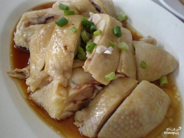 Курица в фольге на пару