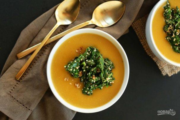 Суп из тыквы постный