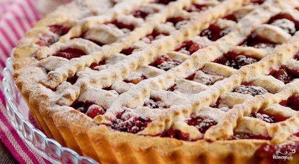 Песочный пирог с замороженными ягодами