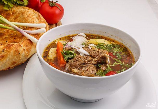 рецепт шурпы из говядины по-узбекски с фото
