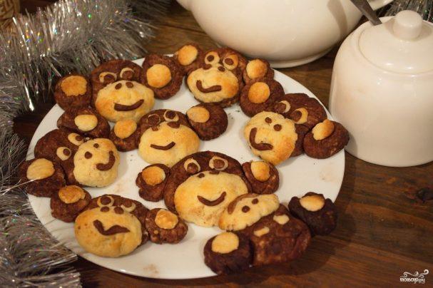 """Печенье """"Обезьянки"""" на Новый год"""