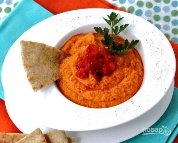 Хумус с болгарским перцем