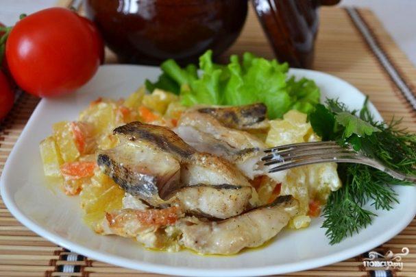 Рыба в горшочке с картошкой
