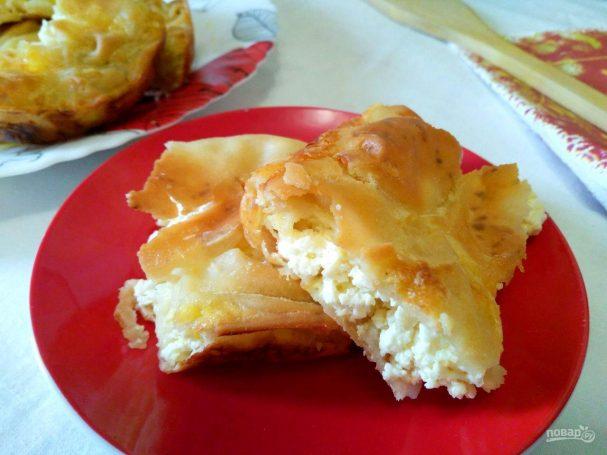 Болгарский пирог с творожной начинкой