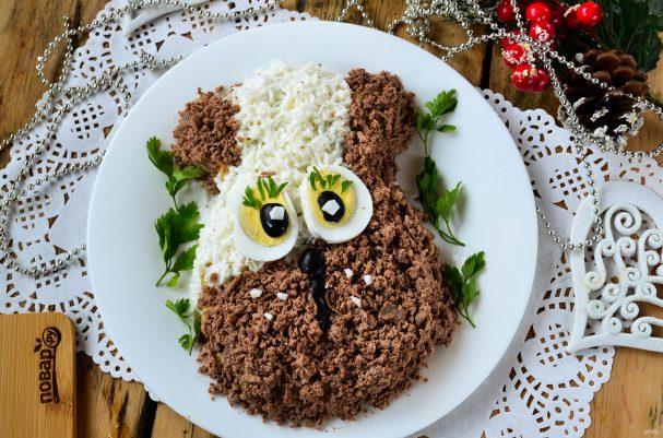 Новогодний салат в Год Собаки